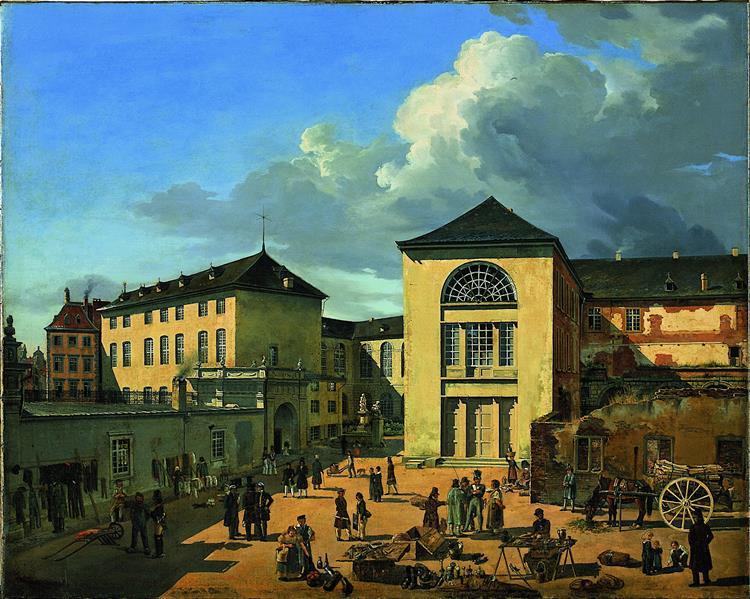 Die alte Akademie in Düsseldorf - Andreas Achenbach