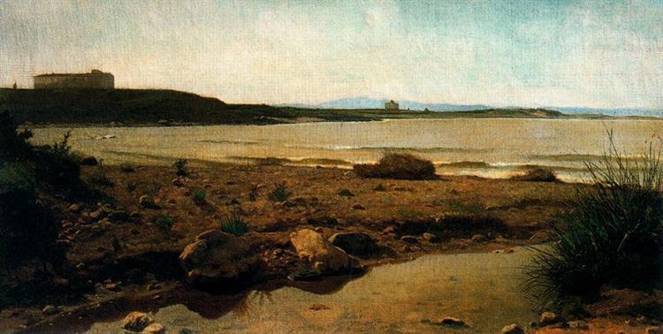 Marina in Castiglioncello, 1863 - Giuseppe Abbati