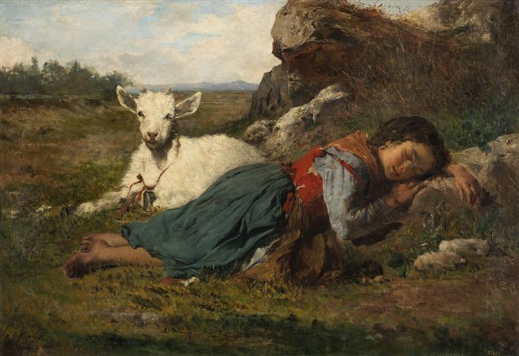 Two Friends, c.1866 - Joaquín Agrasot