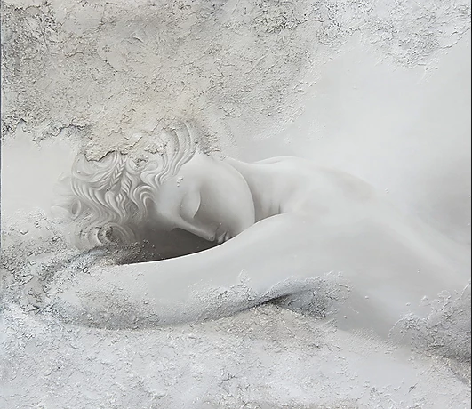 Sleeping Statue, Painted - Zoe Marmentini