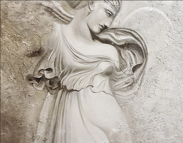 Bas Relief, Painted - Zoe Marmentini