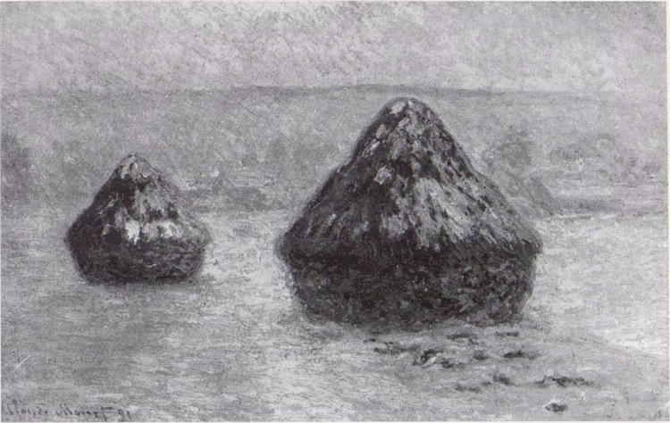 Grainstacks in the Winter, 1891 - Claude Monet
