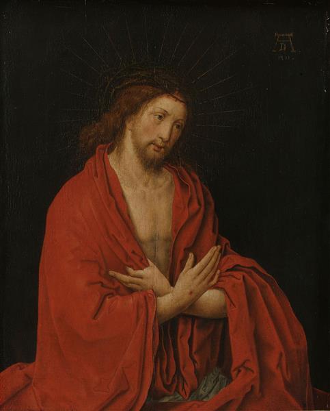 Christ With Crown Of Thorns - Lucas van Leyden