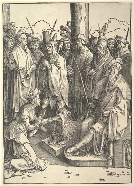 The Mouth of Truth, c.1514 - Lucas van Leyden