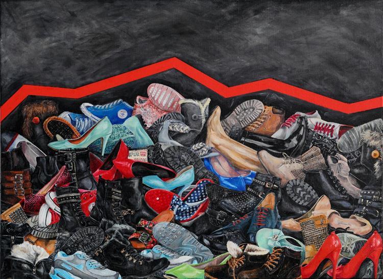 War: Shoes, c.2018 - Małgorzata Serwatka