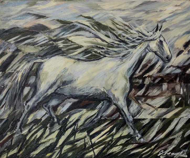 Horse galloping through the pale - Małgorzata Serwatka