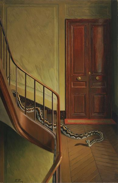 Danger on the Stairs, c.1927 - c.1928 - Pierre Roy