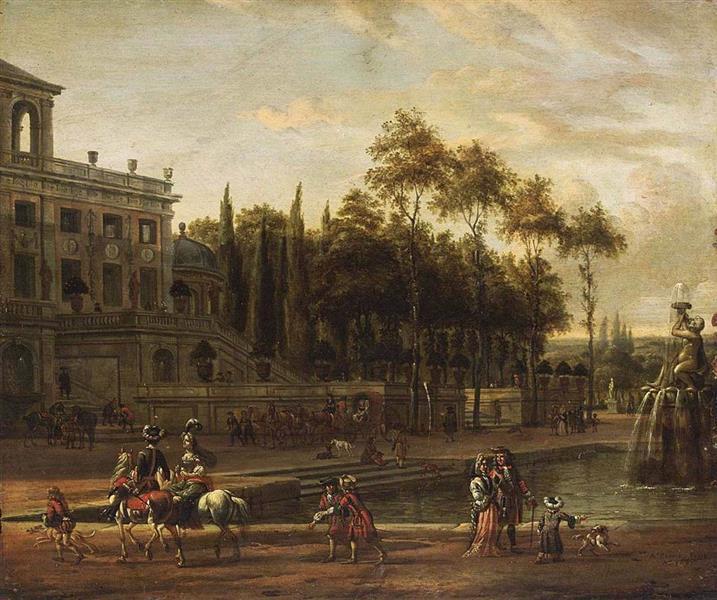 Italianate Park Landscape - Abraham Storck