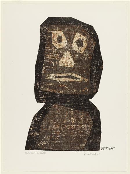 The Warrior, 1958 - Jean Dubuffet