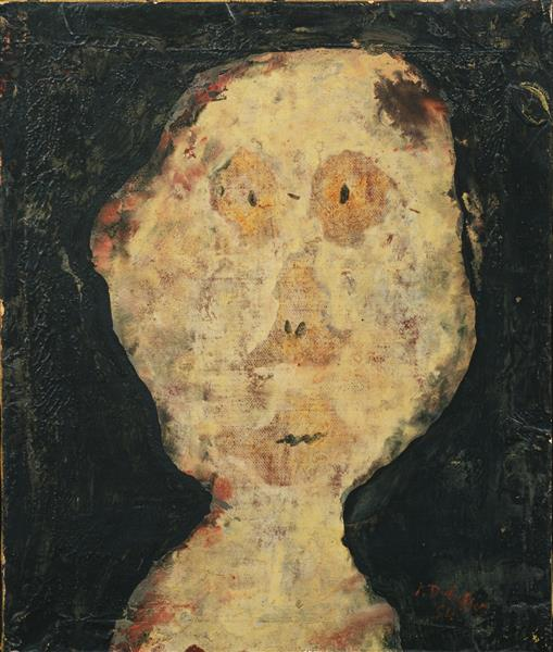 Head of a Girl from the Assemblages d'empreintes series, 1954 - Jean Dubuffet
