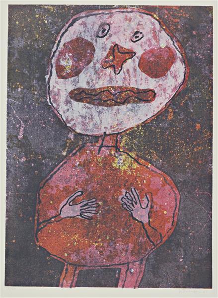 Figure in Red, 1961 - Jean Dubuffet