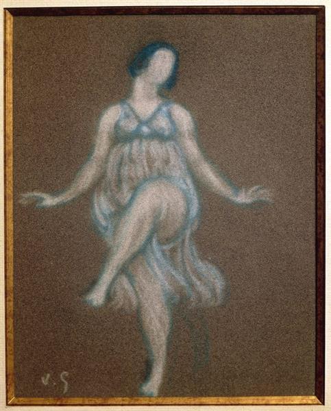 Portrait De Isadora Duncan, 1913 - Valentine Hugo