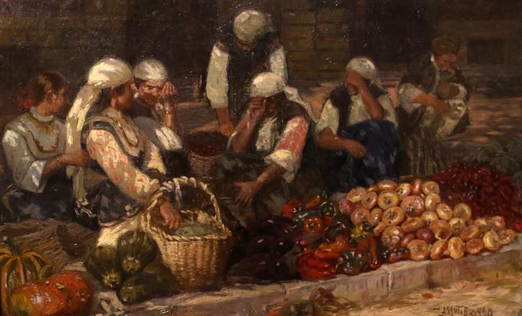 Market, c.1920 - Anton Mitov
