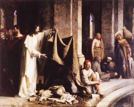Christ Healing by the Well of Bethesda - Carl Bloch
