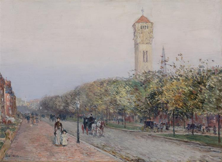 Commonwealth Avenue, Boston, 1892 - Childe Hassam
