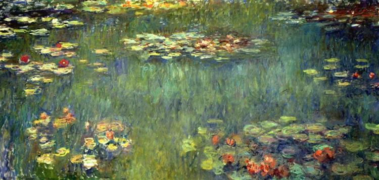 Pool with Waterlilies, 1920 - Claude Monet