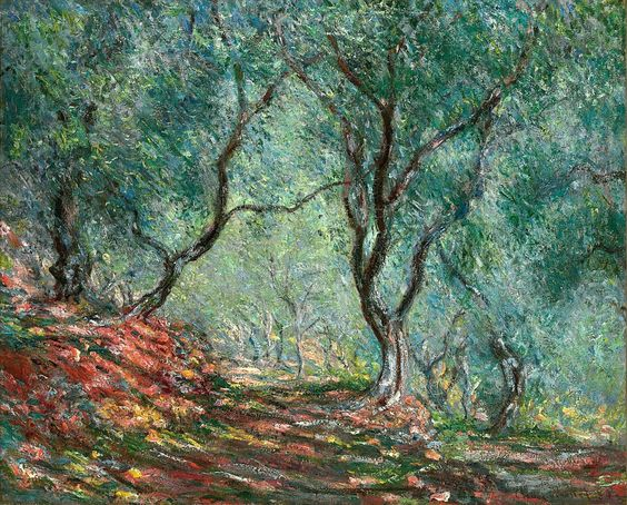 The Olive Tree Wood In The Moreno Garden, 1884 - Claude Monet