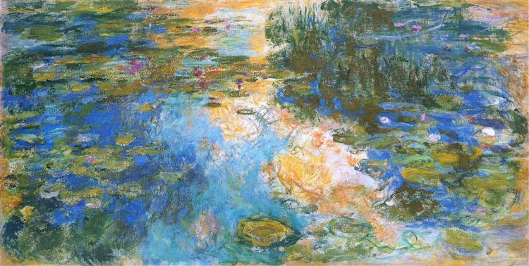 The Water Lily Pond X, 1919 - Claude Monet