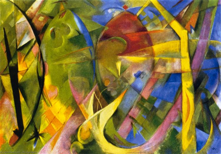 Cheerful Forms, 1914 - Franz Marc