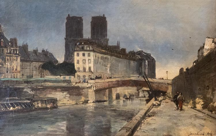 Notre-Dame de Paris, 1854 - Johan Jongkind