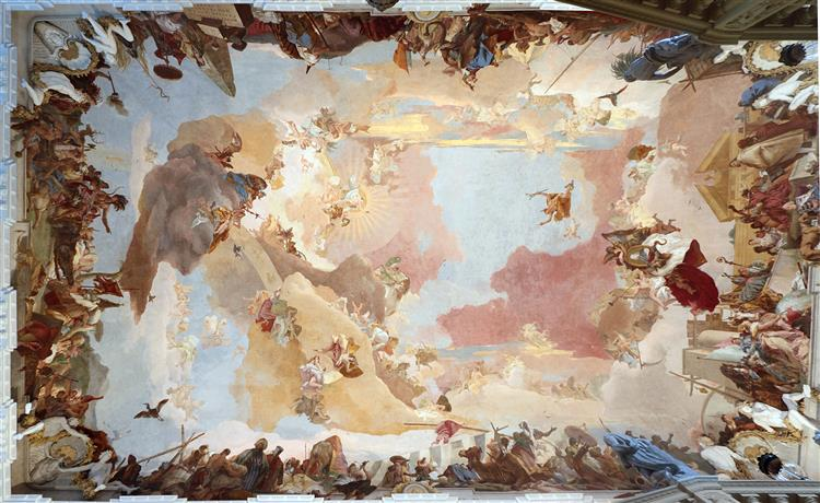 Ceiling fresco at Würzburg Residence, 1752 - 1753 - Giovanni Battista Tiepolo