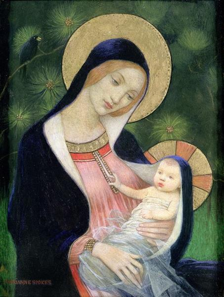 Madonna of the Fir Tree, 1925 - Marianne Stokes