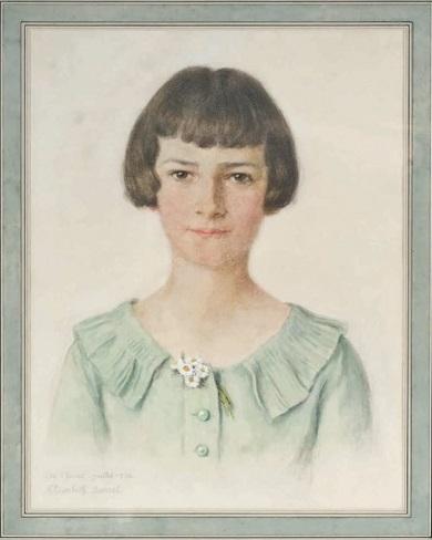 Portrait De Jeune Fille - Elisabeth Sonrel