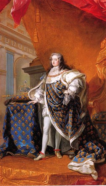 Portrait of Louis XV of France, c.1728 - Шарль Андре Ван Лоо