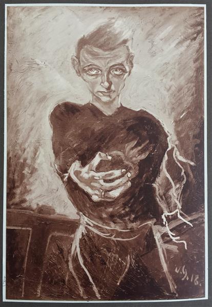 Man with Heart (Self), 1918 - Walter Gramatté
