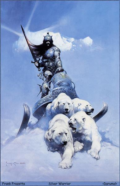 Silver Warrior - Frank Frazetta