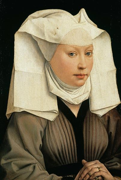 Portrait of a Young Woman in a Pinned Hat, 1435 - Rogier van der Weyden