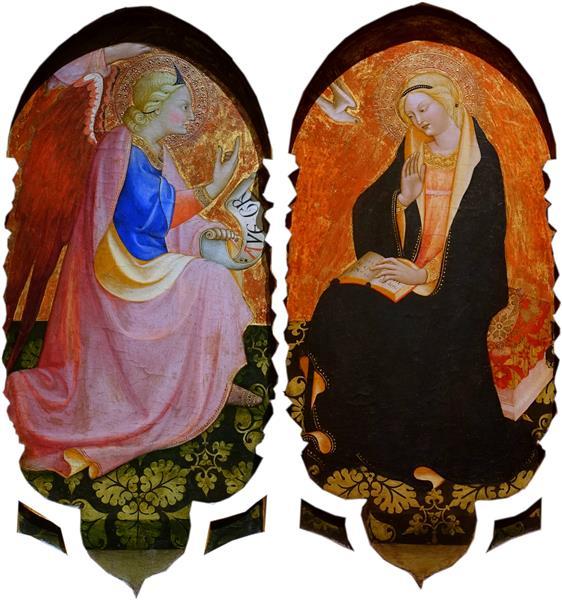 The Diptych of Annunciation, 1420 - Álvaro Pires de Évora