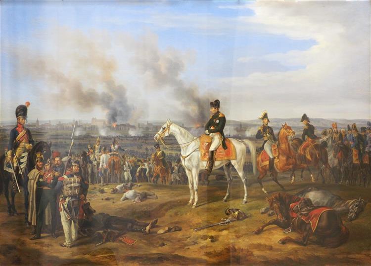 Napoleon I. 1809 Before Regensburg, 1840 - Albrecht Adam