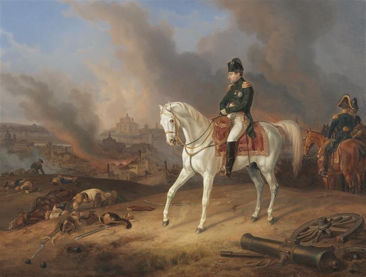 Napoleon Before Burning Smolensk 1812, 1836 - Albrecht Adam