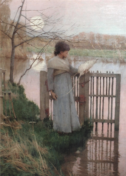 GIRL WITH A DISTAFF, 1886 - Frank O'Meara