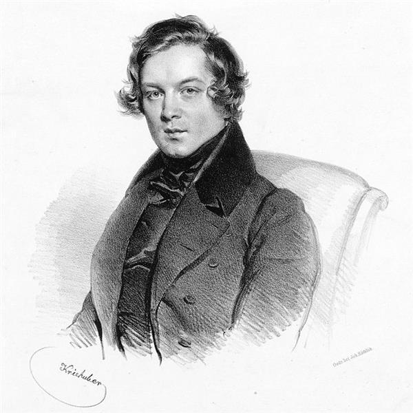 Robert Schumann, Austrian Composer, 1839 - Josef Kriehuber
