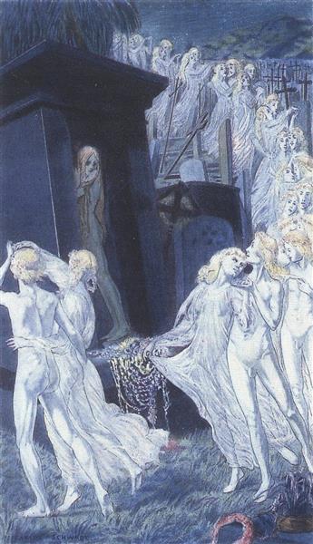 Remords, 1900 - Carlos Schwabe