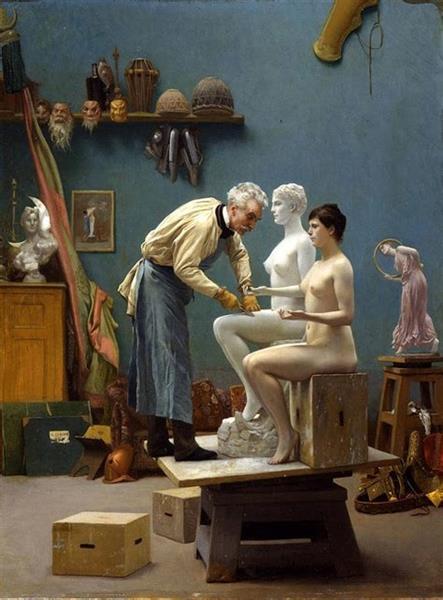 The Artist Sculpting Tanagra, 1890 - Jean-Léon Gérôme