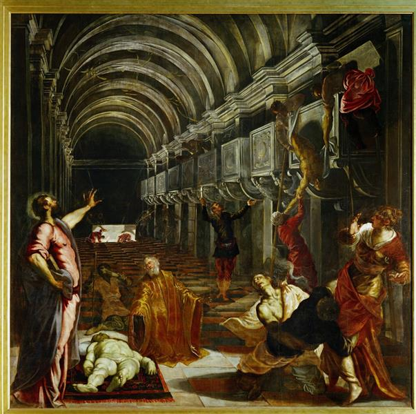 Finding of the body of St Mark, c.1562 - Tintoretto