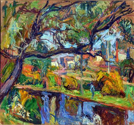 Village Landscape - Abraham Manievich