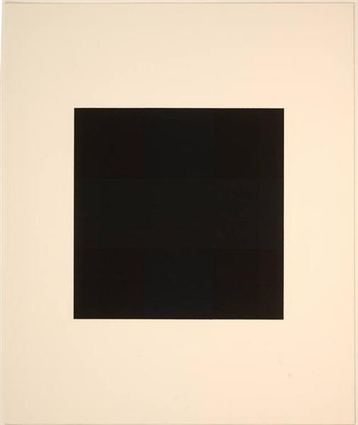 "Untitled (from the Portfolio ""Ten Works X Ten Painters""), 1964 - Ad Reinhardt"