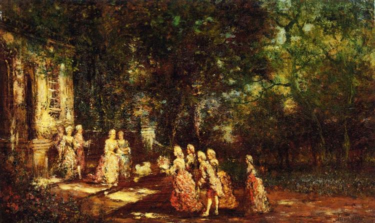 Visit to a Princess, c.1860 - Adolphe Joseph Thomas Monticelli