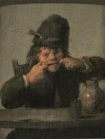 Youth Making a Face - Adriaen Brouwer