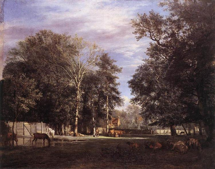 The Farm, 1666 - Adriaen van de Velde