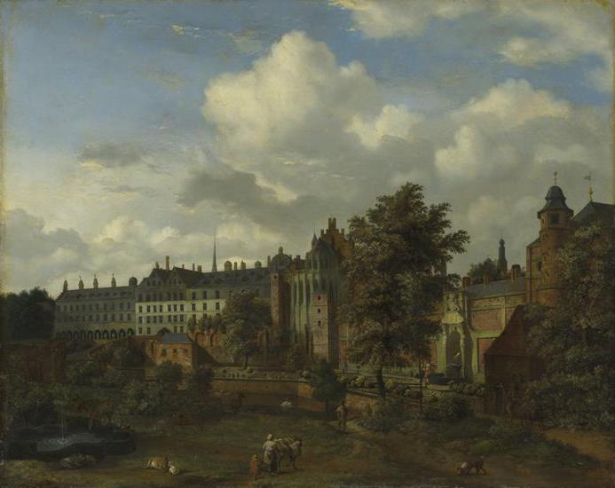View of the ancient castle of the Dukes of Burgundy in Brussels, 1670 - 1672 - Adriaen van de Velde