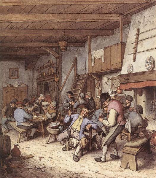Tavern Interior, 1680 - Adriaen van Ostade