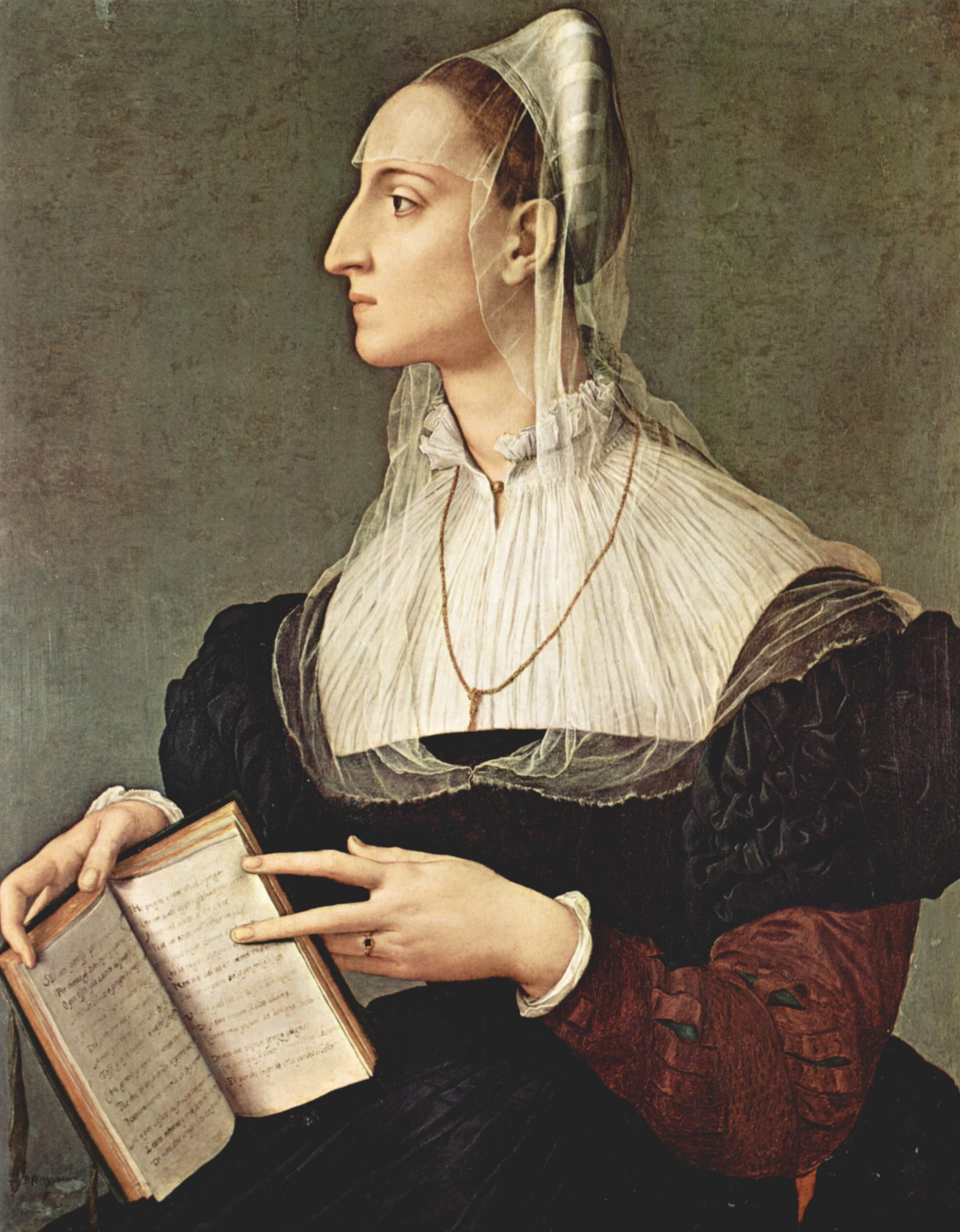 Portrait of Laura Battiferri, 1552
