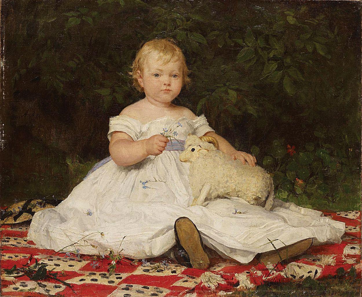 Bildnis Emilie Weiss (mit Plüschtier), 1868