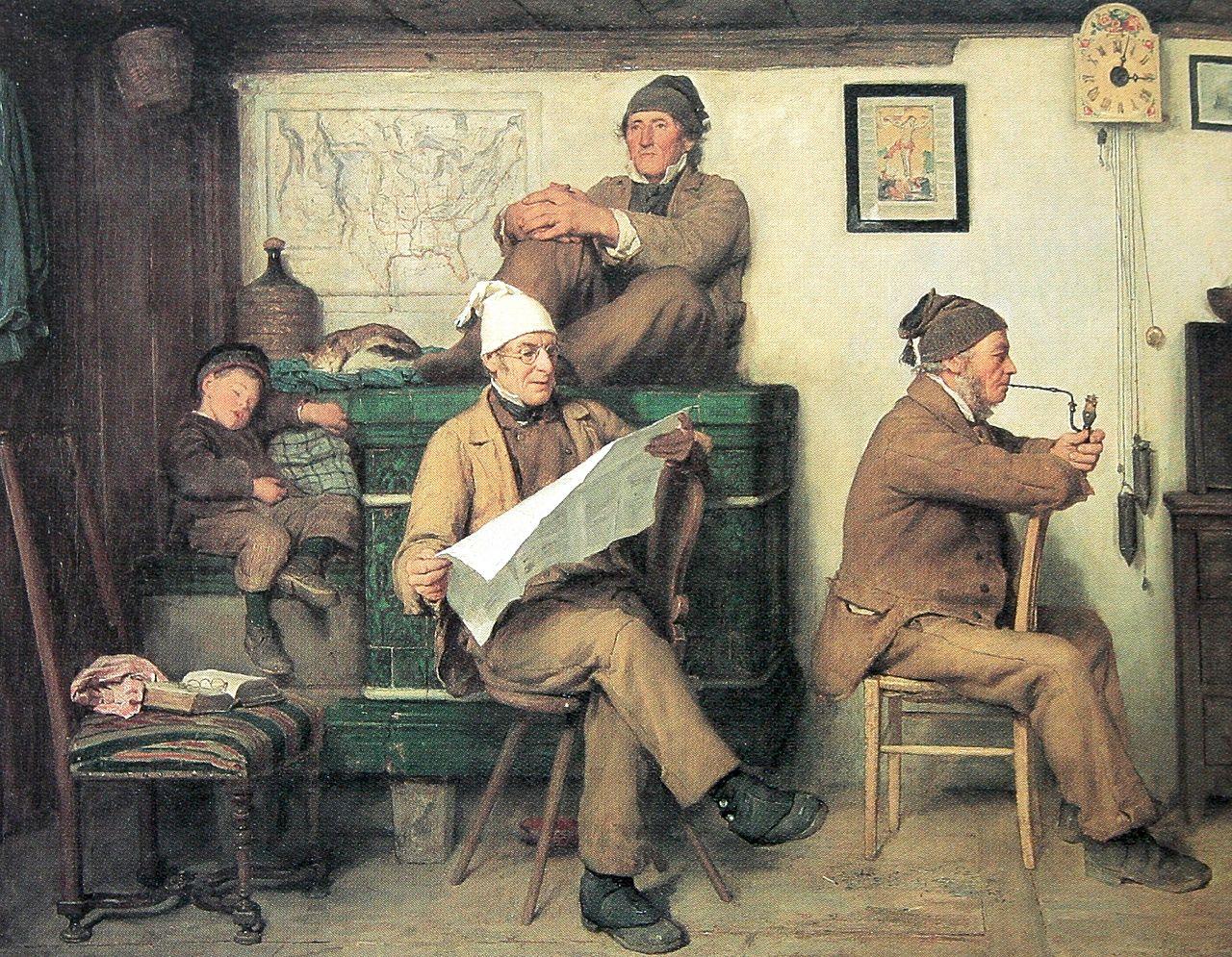 Die Bauern und die Zeitung, 1867