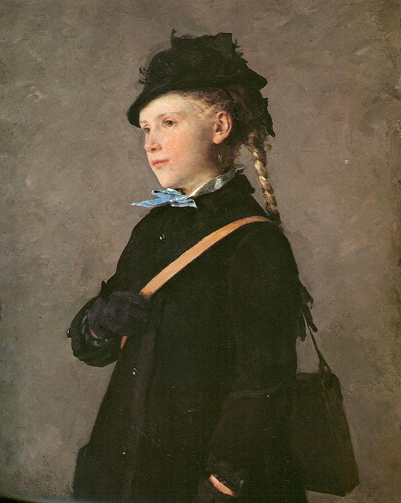 Hüftbild eines Mädchens (Marie Anker), 1881